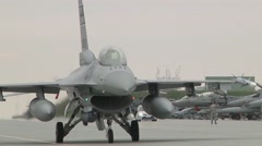 F-16 Fighting Falcons in Flying operations Operation Atlantic Resolve Stock Footage