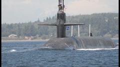 USS Maine Returns To Naval Base Kitsap - Bangor Stock Footage