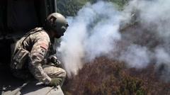 Alaska Army National Guard Black Hawk Crews Help Fight Alaska Fires Stock Footage