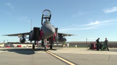 Northern Edge Aircraft Maintainers F-15 Eagles Stock Footage