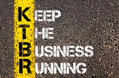 Concept image of Business Acronym KTBR as Keep The Business Running  - stock photo