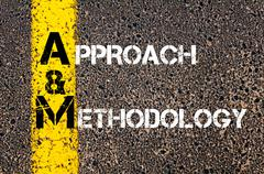 Concept image of Business Acronym AM as Approach and Methodology - stock photo