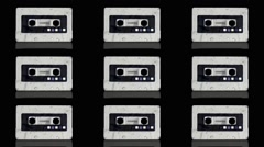 Vj Loop Art Cassette Audio Tape Background Visual Stock Footage