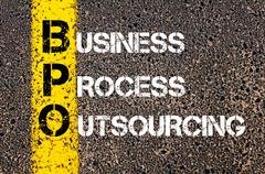 Concept image of Business Acronym BPO as Business Process Outsourcing - stock photo