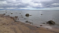 Baltic Sea coast beach Kurzeme Roja Stock Footage