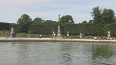 Tuileries garden fountain french people leisure time in park, outdoors sculpture Arkistovideo
