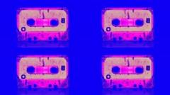 Vj Loop Art Cassette Audio Tape Background Visual Stock Footage