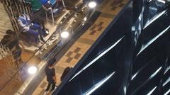 Retail light patterns in Hong Kong 4K - stock footage