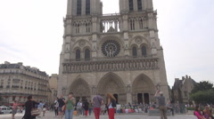 Our Lady Church Notre Dame Paris, Ile de la Cite architectural parisian landmark - stock footage
