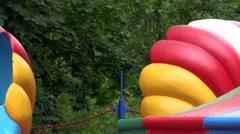 amusement ride at fairgrounds. - stock footage