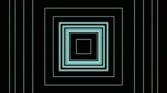 VJ Loop Animation Neon Square Tunnel Art Background Visual Stock Footage
