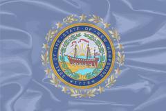 New Hampshire Silk Flag Stock Illustration