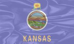 Stock Illustration of Kansas State Silk Flag