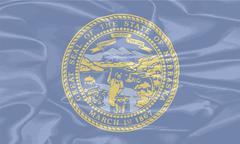Stock Illustration of Nebraska State Silk Flag