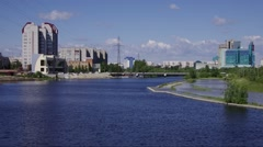 Surgut, view of the city Stock Footage