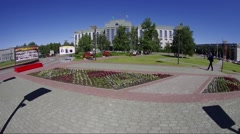 Stock Video Footage of Surgut, City Council building. Long shot
