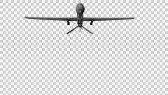 Air Force Drone Flyin - 3D Model With Alpha Channel Stock Footage