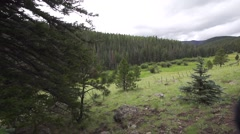 Panning Over Green Valley Stock Footage