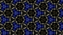 abstract blue motion background, kaleidoscope - stock footage
