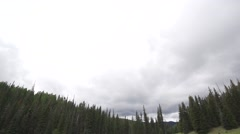 Pan Down Over Mt. Baldy Landscape Stock Footage