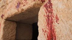Lamb's Blood Spread on the Door Post, Biblical Re-enactment - stock footage