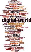 Stock Illustration of Digital world word cloud