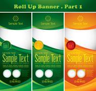 Multipurpose roll up banner Stock Illustration