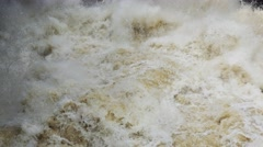 Overflowing River After Storm Stock Footage
