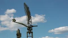 The rotating antennas of the radars - stock footage