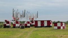 Radar antennas - stock footage