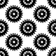 Machine gears and pinions seamless pattern Stock Illustration