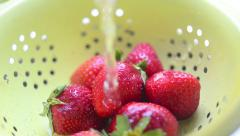 Strawberry wash Stock Footage