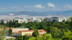 View Of The City Of Athens Time Lapse Stock Footage