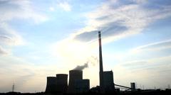 A Power plant with sky - Kraftwerk Stock Footage