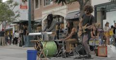 Third street promenade musicians Stock Footage