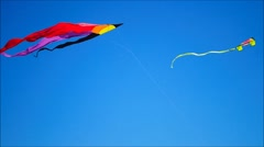 Two Kites with streamers Stock Footage