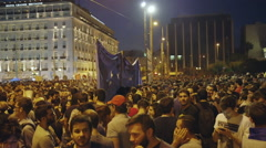 Stock Video Footage of People in Greece rally/protest,Athens Parliament,referendum,grexit 2015