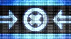 Error icon on the screen. Looping. - stock footage