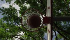 Basketball Swish from below the rim Stock Footage