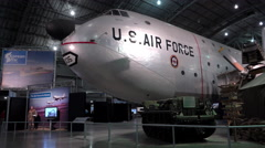 Korean War exhibit at WPAFB Museum 4k Stock Footage