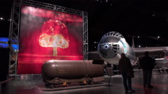 Mark 41 Thermonuclear Bomb at Air Force Museum 4k Stock Footage