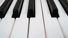 Piano keys with a dolly shot. Stock Footage