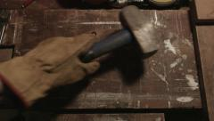 Mallet On Tool Bench DIY - stock footage
