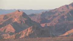 RED MOUNTAINS OF THE SINAI PENINSULA Stock Footage