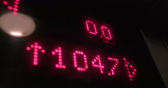 Indicator in high-speed lift showing height - stock footage