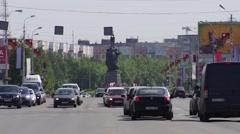 Surgut, Lenin street Stock Footage
