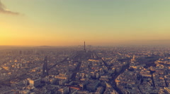 Stock Video Footage of Sunset Over Paris
