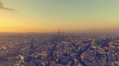 Sunset Over Paris Arkistovideo