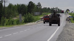 Highway Surgut-Kogalym - summer Stock Footage