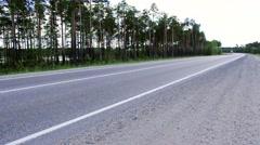 Highway Surgut-Kogalym - summer Stock Footage